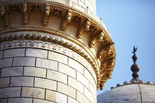Mosque Minaret And Dome Detail Of Taj Mahal Royalty Free Stock Images