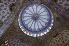 Decorations Of The Blue Mosque Dome, Istanbul Stock Images