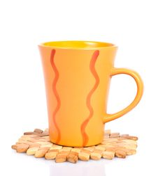 Free A Hot Cup  On Stand Of Juniper Stock Photography - 18221382