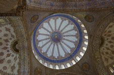 Decorations Of The Blue Mosque Dome, Istanbul Royalty Free Stock Photo