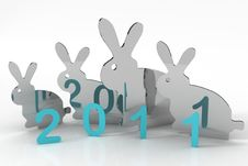 2011 Year Stock Photo