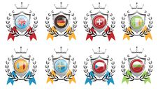 Free Coats Of Arms Shield Flags Stock Photos - 18221953