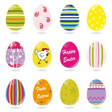 Free Set Of Easter Eggs Stock Photography - 18221972
