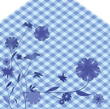 Free Abstract Floral Blue Background Royalty Free Stock Photos - 18222418