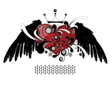 Heart Scarlet Wings Royalty Free Stock Image