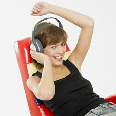 Free Woman With Headphones Stock Photography - 18223012