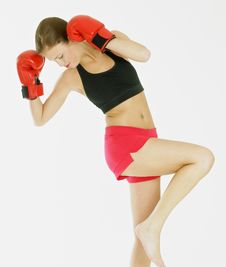 Free Woman With Boxing Gloves Stock Photos - 18223013