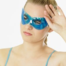 Woman With Facial Mask Royalty Free Stock Photos