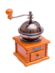 Wooden Retro Coffee-grinder Royalty Free Stock Photo