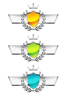 Free Metal Shields Set Royalty Free Stock Images - 18223639