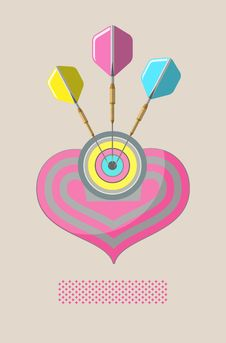 Poster Love Darts Stock Image