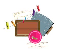 Sewing Clothespins Stock Image