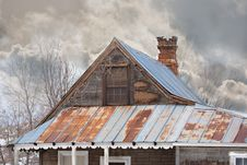 Free Old House In The Country In Winter Stock Photo - 18224590