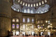 Free People Praying In Blue Mosque Stock Images - 18224624