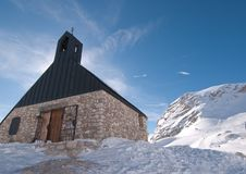 Church In The Zugspitze, Germany Stock Images