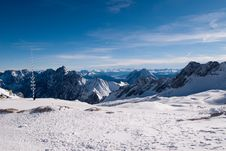 Mountains In The Zugspitze, Germany Stock Photo