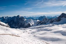 Winterlandscape In The Zugspitze, Germany Stock Photography