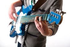 Free Man Playing A Guitar Royalty Free Stock Images - 18225269