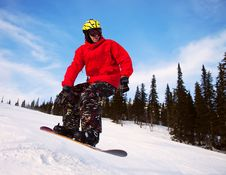 Free Snowboarder Jumping Stock Image - 18225781