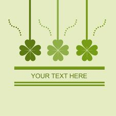 Cute St. Patrick S Day Card Stock Image