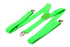 Free New Green Suspenders Royalty Free Stock Photography - 18225937