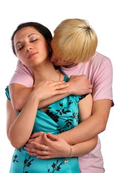 Free Young Man Embrace Girl From Behind Stock Photos - 18227293