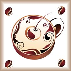 Free Vector Illustration Of Coffee Cup Design Royalty Free Stock Images - 18227349