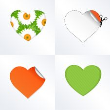 Free Hearts In Different Kinds Royalty Free Stock Image - 18227466