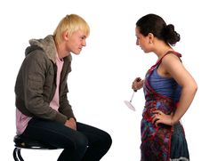 Free Young Couple Fights Stock Image - 18227741