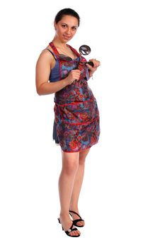Free Young Housewife With Ladle Stock Photos - 18227903