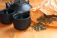 Free Asian Tea Set On Table,Closeup. Stock Photography - 18228072