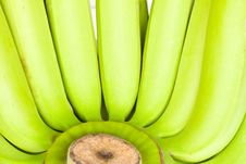 Free Bunch Of Green  Bananas Stock Images - 18228314