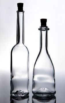 Free Two Empty Corked Bottles Stock Image - 18228491
