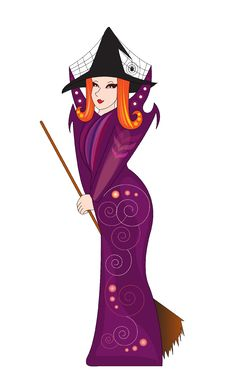 Free Vector Witch Stock Photography - 18228882