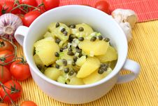 Free Fresh Salad Of Potatoes Royalty Free Stock Image - 18229716