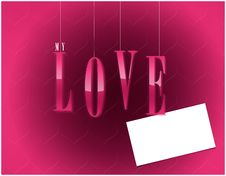 Free My Love Valentines Card Royalty Free Stock Images - 18229899