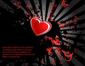 Free Black Stain And Red Heart Stock Images - 18235764