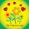 Free Flowers With Hearts Royalty Free Stock Images - 18238109