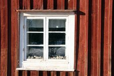 Free Window In A Timber House Stock Image - 18230171