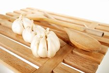 Free Garlic And Ladles Royalty Free Stock Photography - 18230257
