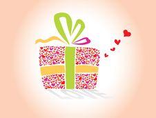 Free Love S Hearts Gift Royalty Free Stock Photos - 18230788