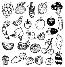 Hand Draw Vegetable Royalty Free Stock Photo