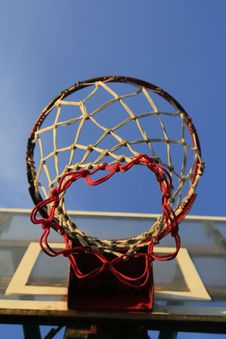 Free Basketball Hook With Blue Sky Royalty Free Stock Images - 18231239