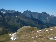 Free Sharp Peaks Of High Mountains Stock Image - 18231241