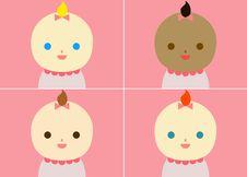 Free Pink Babies Royalty Free Stock Image - 18231396