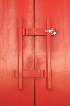 Red Door Of Church Royalty Free Stock Photos