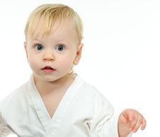 Free Portrait Baby In Kimono Royalty Free Stock Image - 18231786