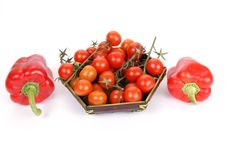 Free Cherry Tomato And Red Pepper Stock Images - 18231884