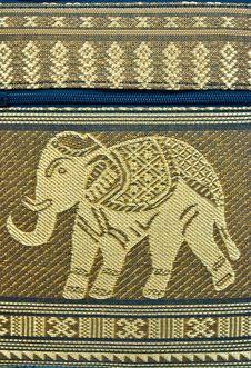 Free PATTERN THAI SILK ELEPHANT Stock Images - 18232194
