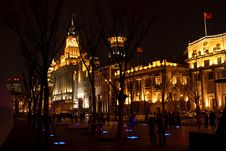 Night Scene Of The Bund In Shanghai Royalty Free Stock Photo